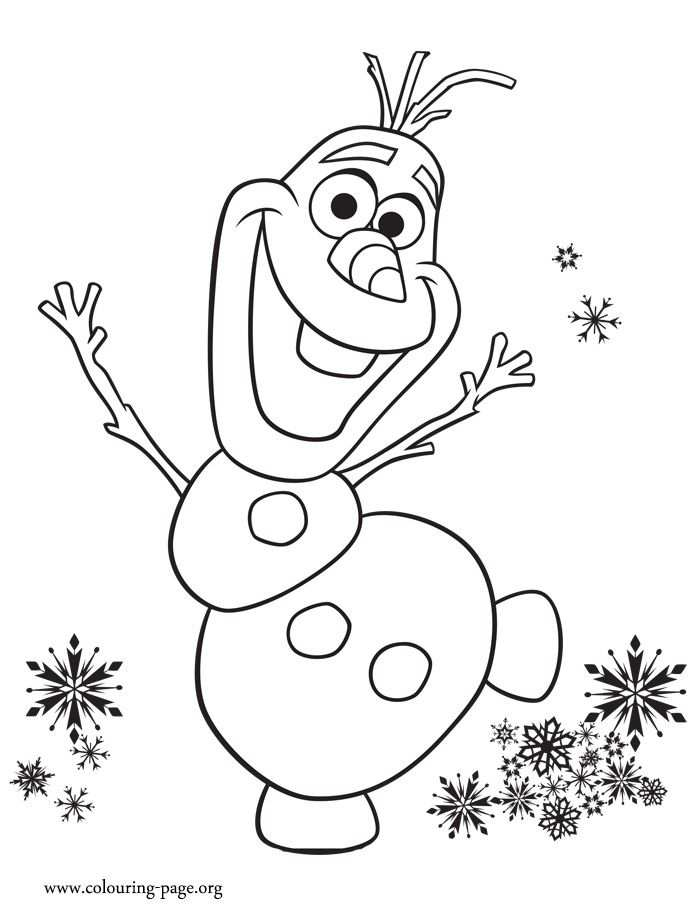 Look Olaf Is Excited With Anna S Birthday Party Print And Color