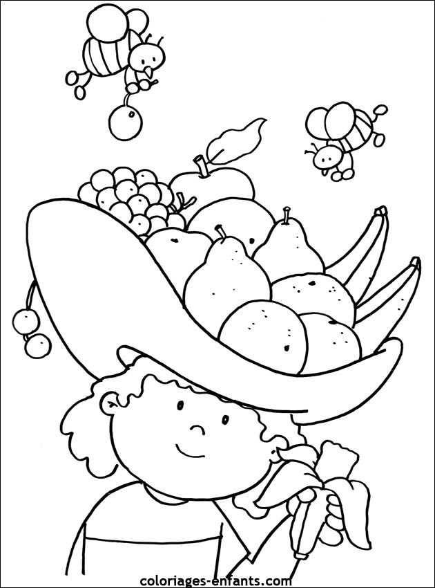 Coloriages De Fruits Et Legumes Kleurplaten Eet Gezond En