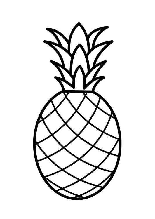 Kleurplaat Ananas Kleurplaten Ananas Knutselen Ananas Tekening
