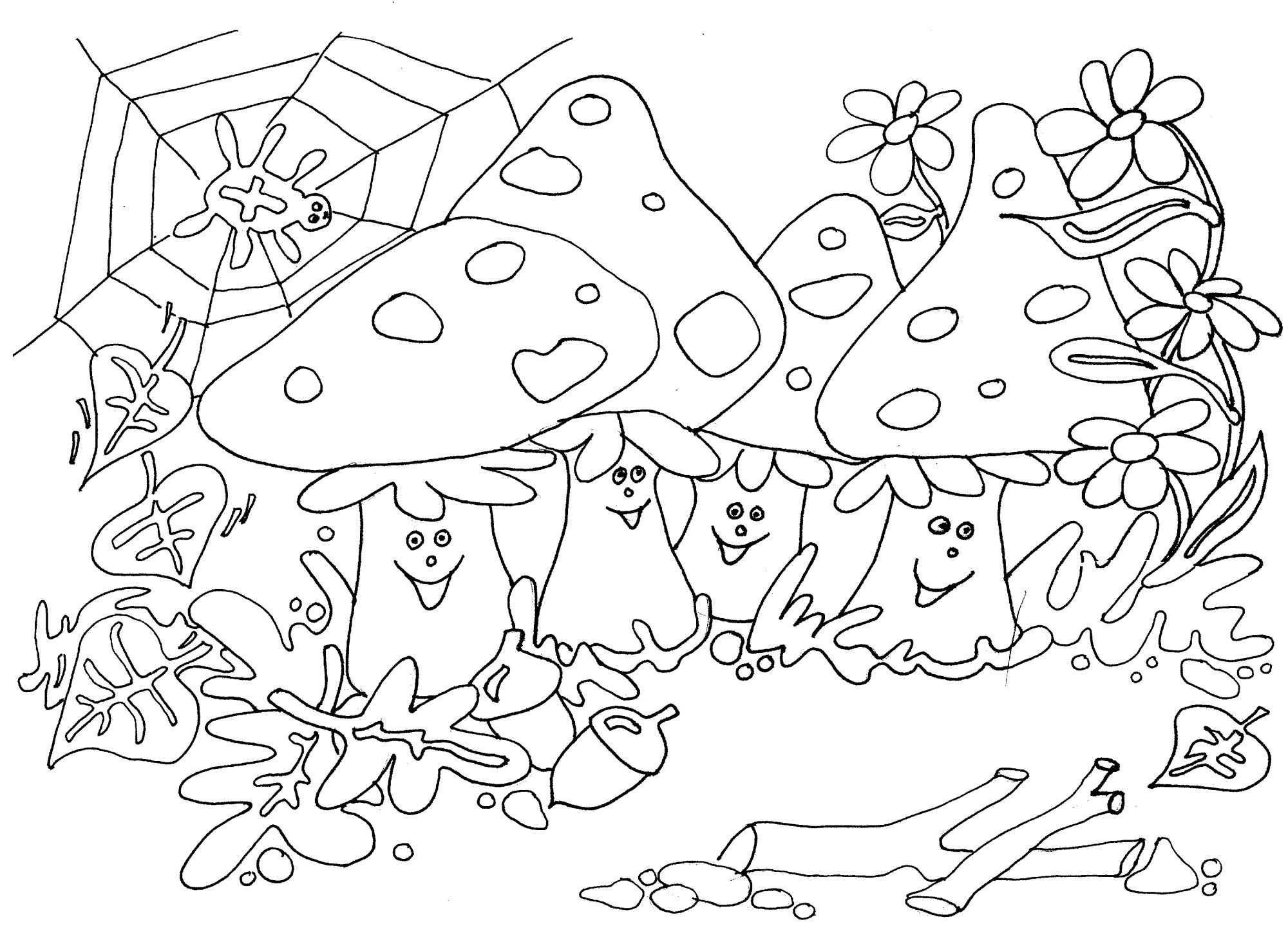 Thema Seizoenen Herfst Kleurplaten Juf Milou Met Afbeeldingen