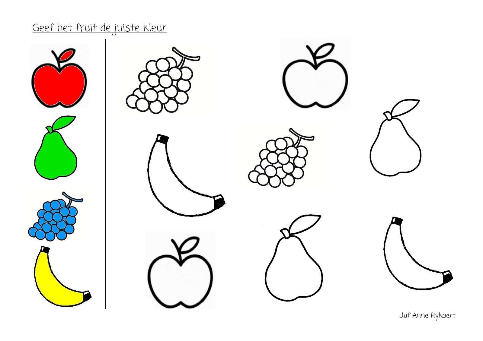 Kleur Het Fruit In De Juiste Kleur Knutselen Thema Eten Thema