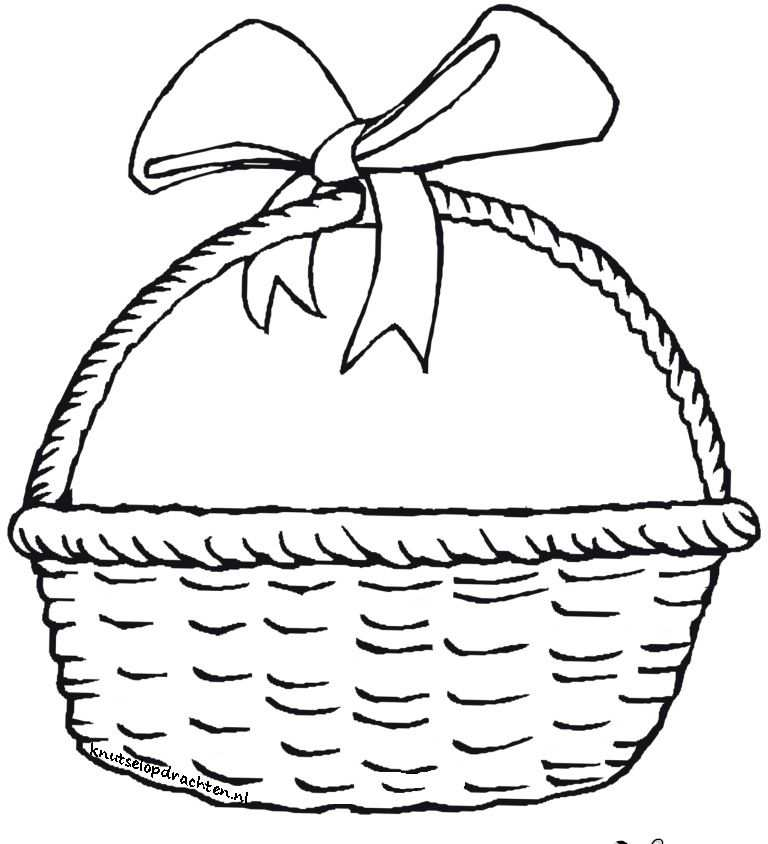 Teken Zelf Het Fruit Paasmanden Pasen Kleurplaten