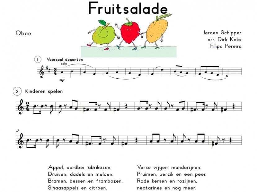 Img Big Muziek Werkbladen Liedjes Fruitsalade