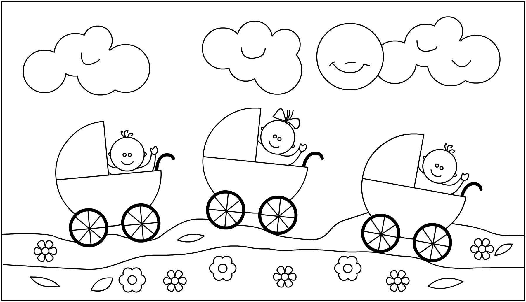 Kleurplaat Thema Baby Knutselen Thema Baby Knutselen Geboorte