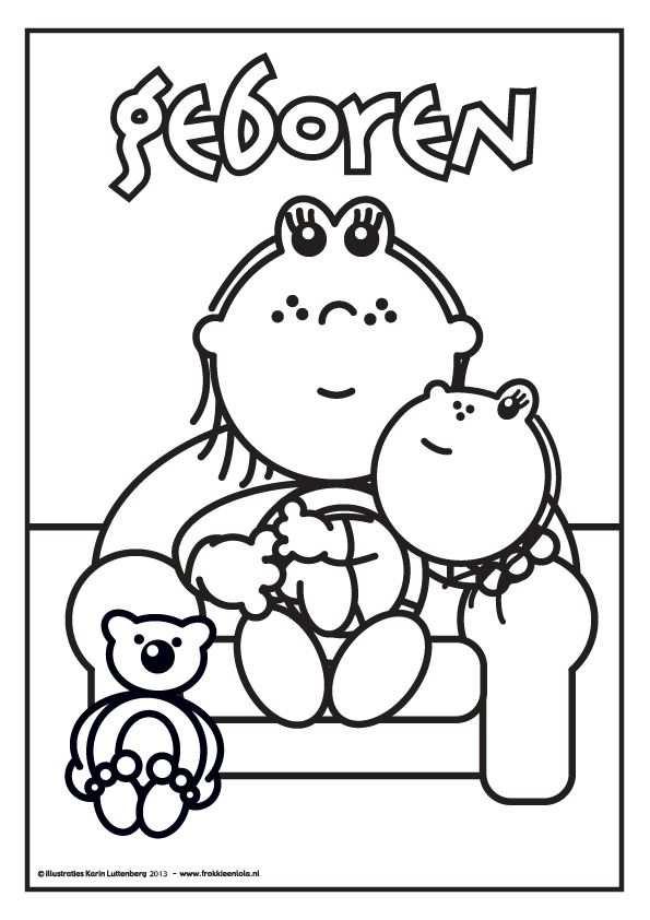 Hoera Er Is Een Baby Geboren Kleurplaten Baby Kids En Baby