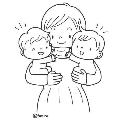 Tweeling Kleurplaten Baby S En Geboorte