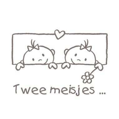 Kaart Tweeling Van Twee Meisjes Greetz Tweeling Kaarten