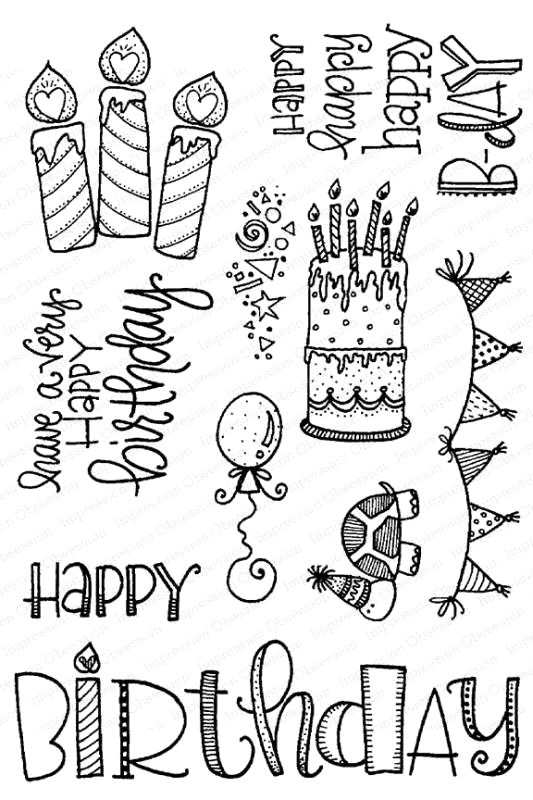 Impression Obsession Clear Stamps Happy Birthday Cl953 Kaart