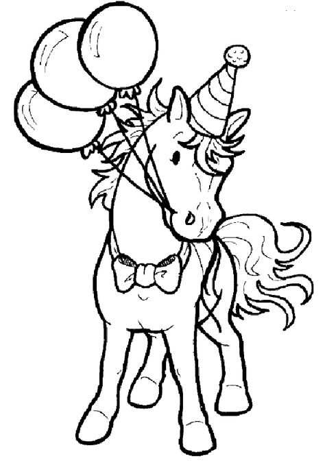Verjaardag Kleurplaat Paard Met Baloon Gif 595 844 With Images