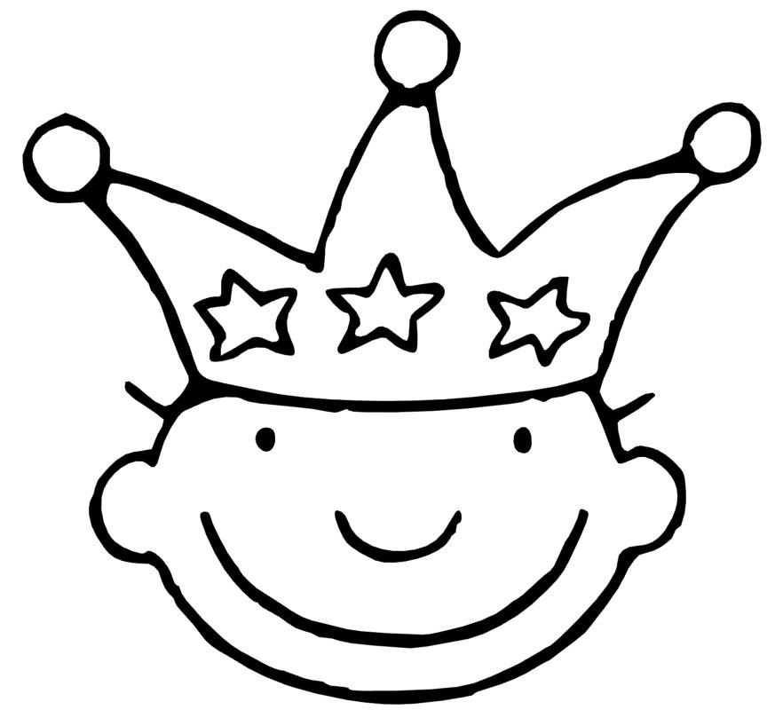 Kroon Jules 3 Kleurplaten Verjaardagskroon Knutselen Thema