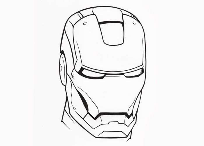 Iron Man Face Coloring Pages 787869 Jpg 700 500 Pixels Spiderman
