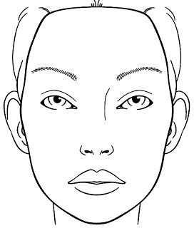 Kleurplaat Gezicht Pin Makeup Face Charts Mac Pinterest Portal