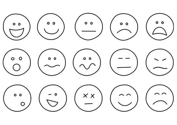 Emotie Gezichtjes Leuk Om Te Gebruiken Bij Het Bespreken Van
