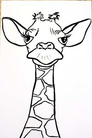 Girafe Risunki Raskraski Uroki Risovaniya