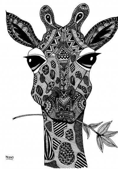 Giraffe Kleurplaat Met Afbeeldingen Kleurplaten Adult