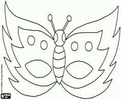 Vlinder Masker Kleurplaat Met Afbeeldingen Masker Carnaval