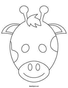 Printable Giraffe Mask To Color Kinderkunst Kleurplaten En