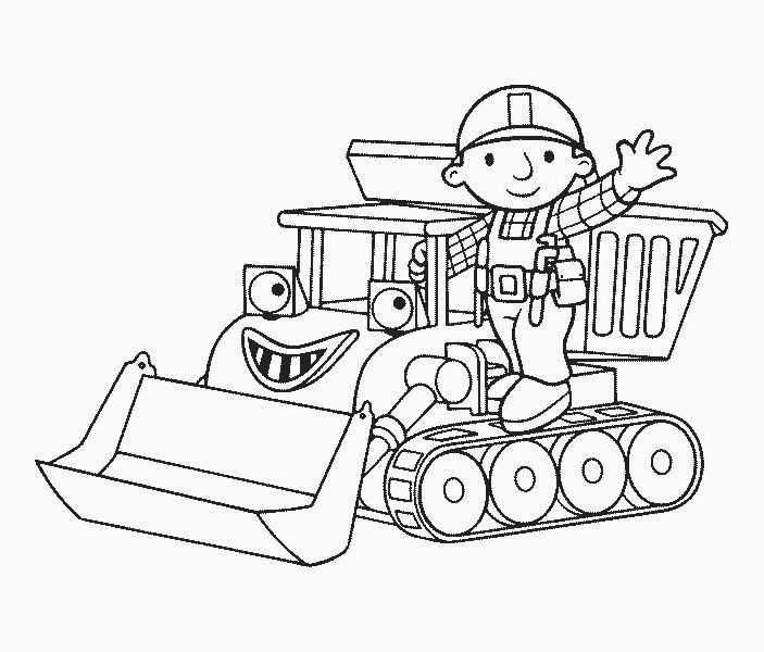 Bob The Builder Coloring Pages Pattern Coloring Pages Cartoon