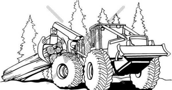 Applique Pattern For A Skidder Logger Google Search Truck