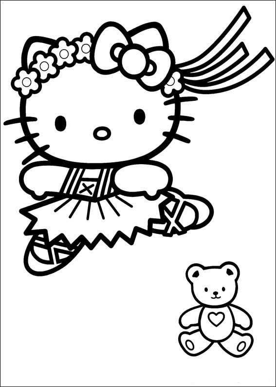 Kleurplaten Hello Kitty Prinses Kleurplaat Hello Kitty Princess