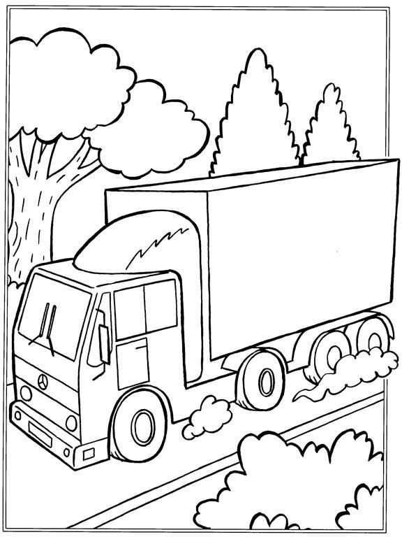 Kleurplaat Vrachtwagens Vrachtwagens Verkeer Kleurplaten