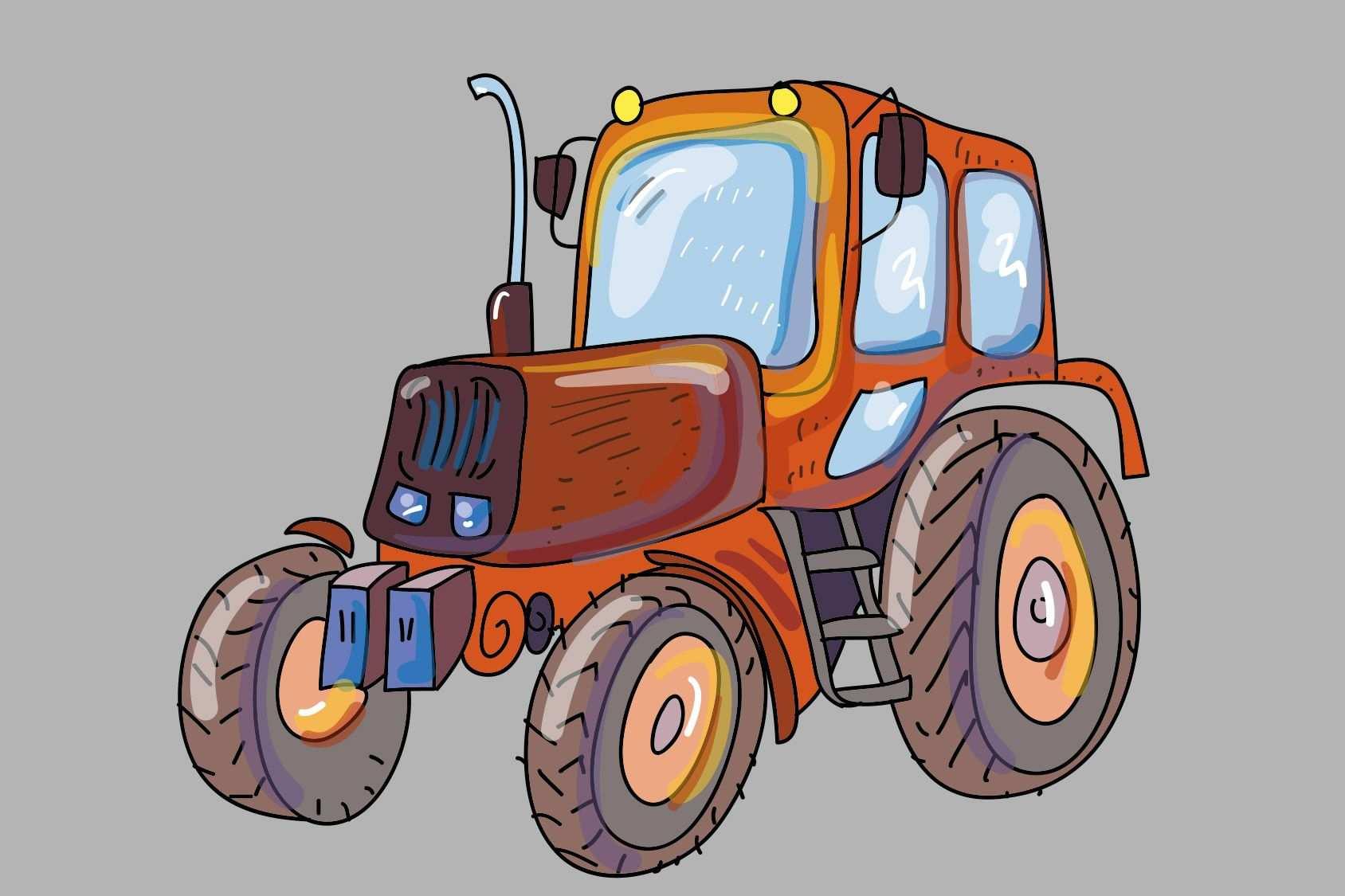 Kleurplaat Tractor Graafmachines En Trekkers Met Afbeeldingen