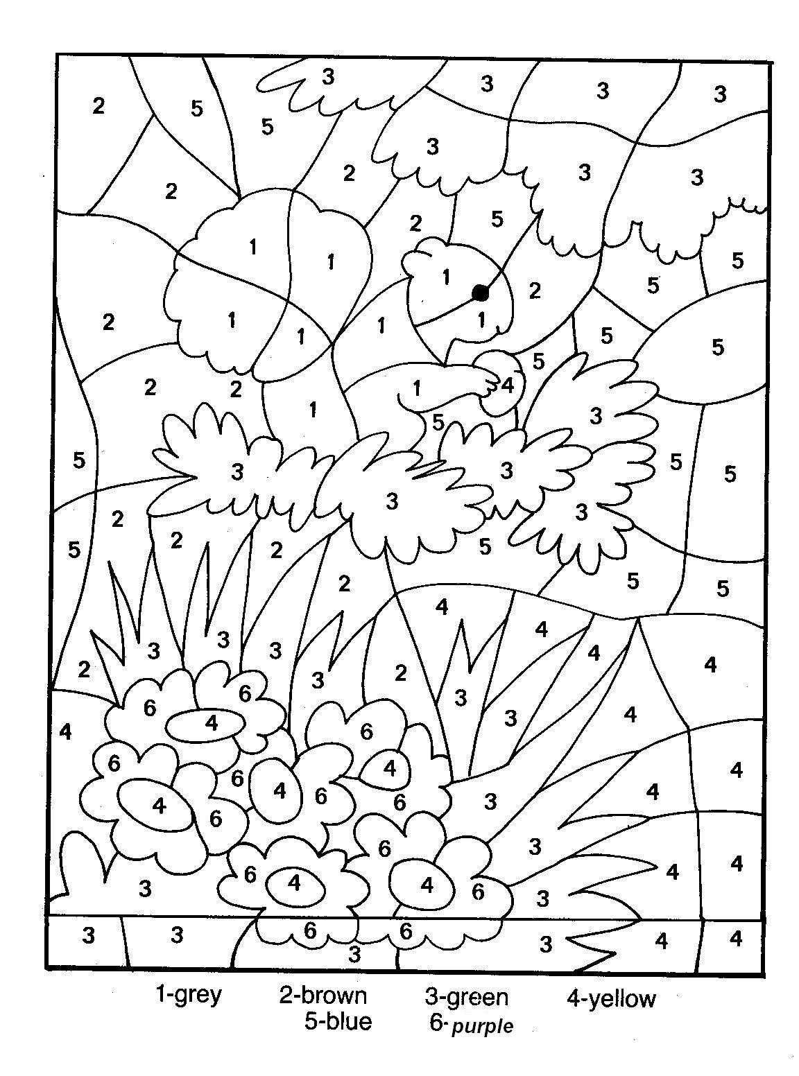 Printable Color By Number For Adults Color By Number Coloring