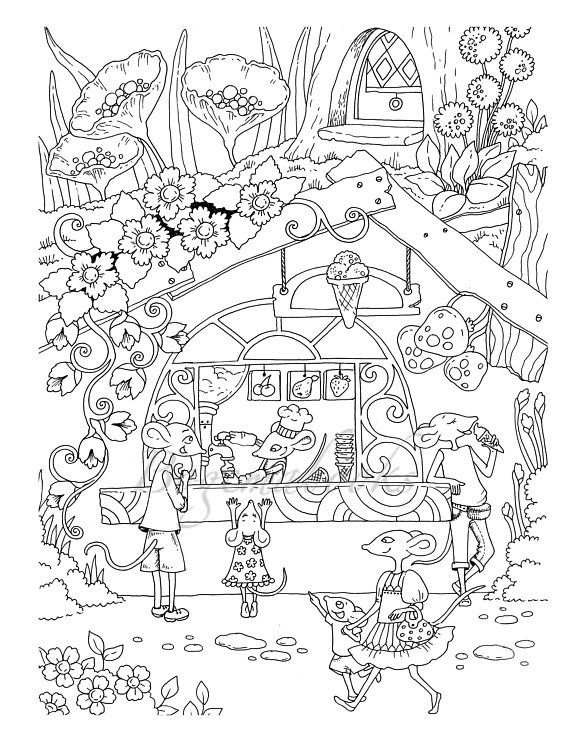 Nice Little Town 5 Adult Coloring Book Coloring Pages Pdf