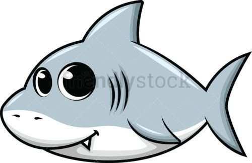 Cute Baby Shark Creatief Tekenen