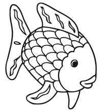 Kleurplaat De Mooiste Vis Van De Zee The Rainbow Fish
