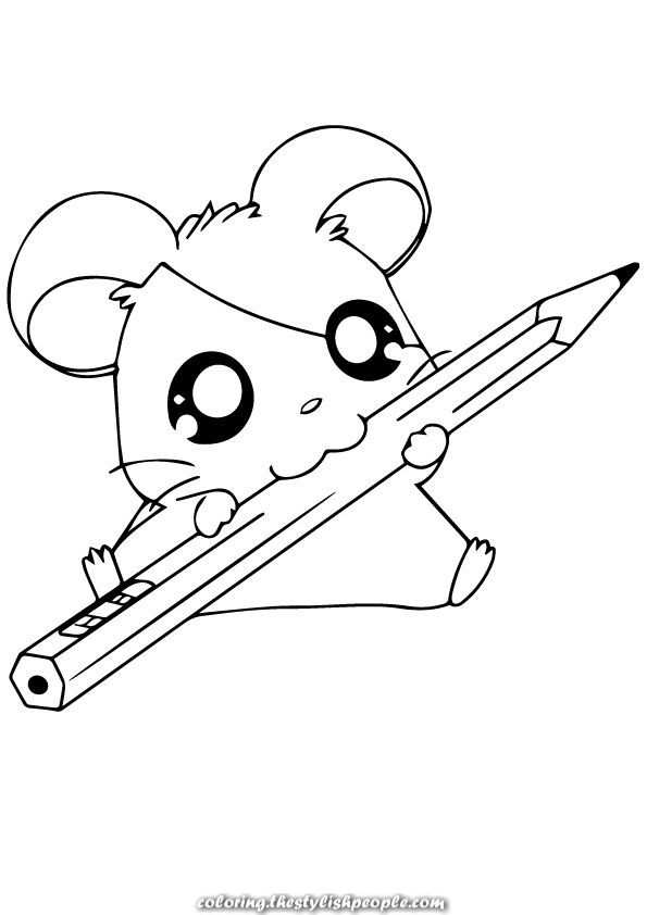 Finest Coloring Pages For Hamster Your Toddler Will Love With