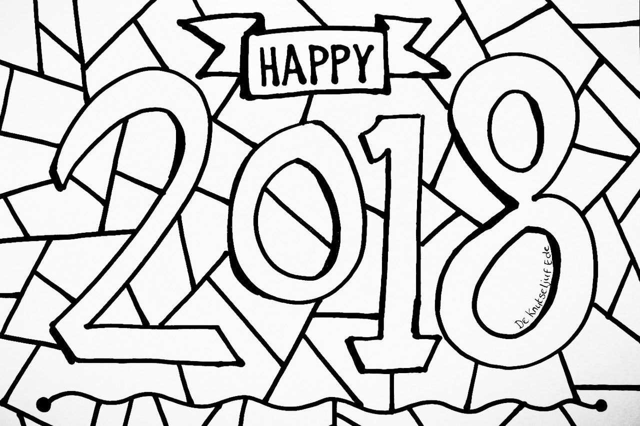 Afbeeldingsresultaat Voor Kleurplaat Gelukkig Nieuwjaar 2018 With