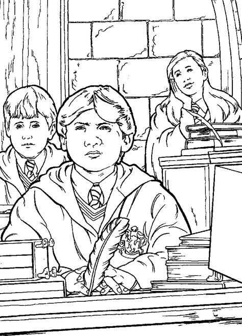 Kleurplaat Harry Potter En De Geheime Kamer Harry Potter En De