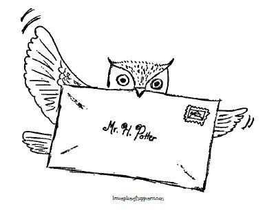 Harry Potter Unit Worksheet Owl Post Coloring Page Kleurplaten
