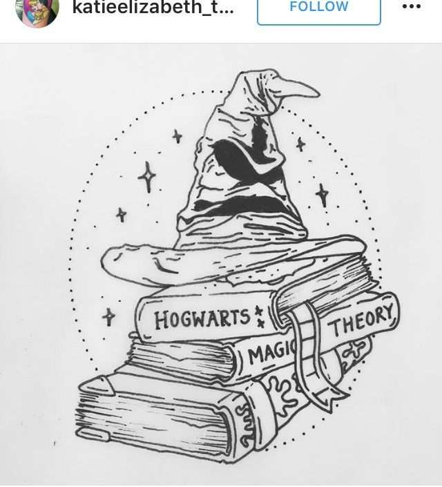Harry Potter Tattoo Sorting Hat More Kleurplaten Harry Potter