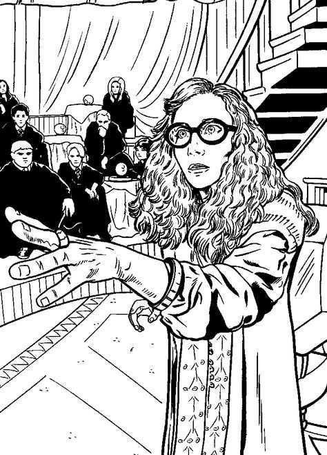 Kleurplaat Kleurplaten Harry Potter En De Orde Van De Feniks Kids