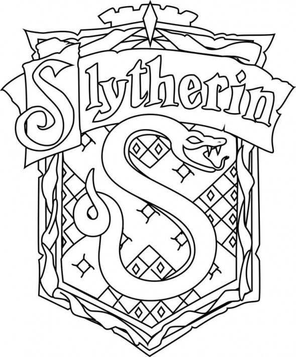 For Harry Potter Slytherin Coloring Pages Az Coloring Pages