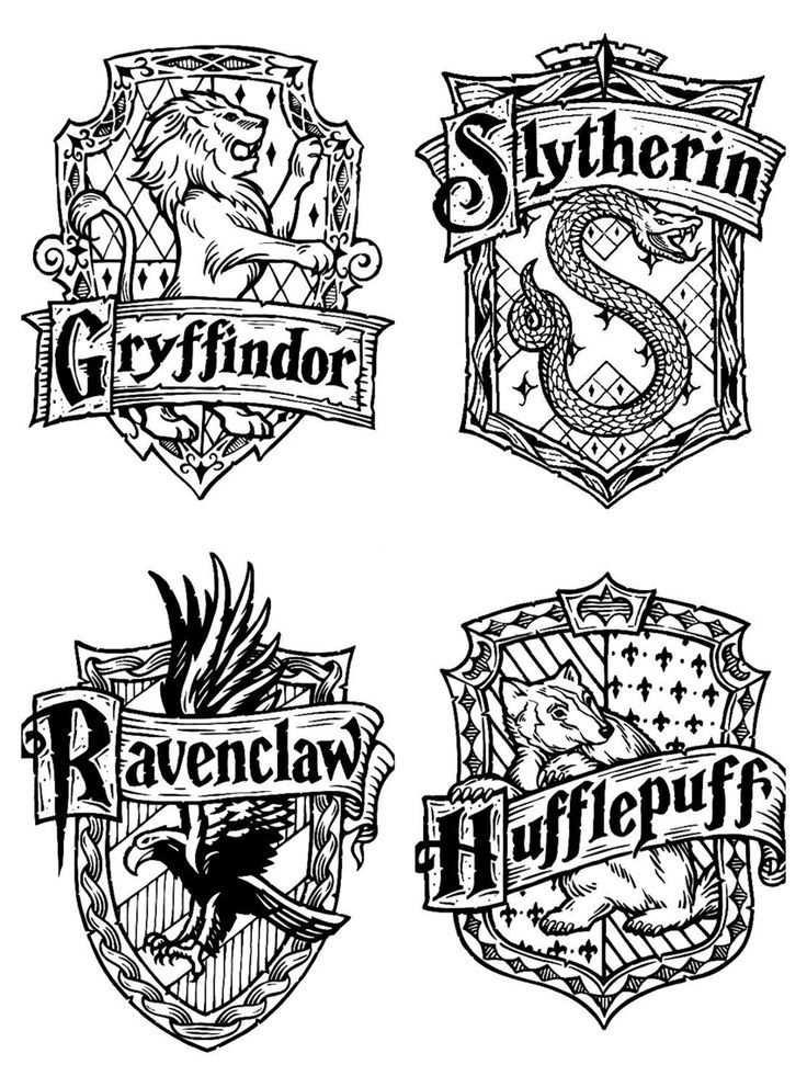 Harry Potter House Emblems Harry Potter Knutselen Harry Potter
