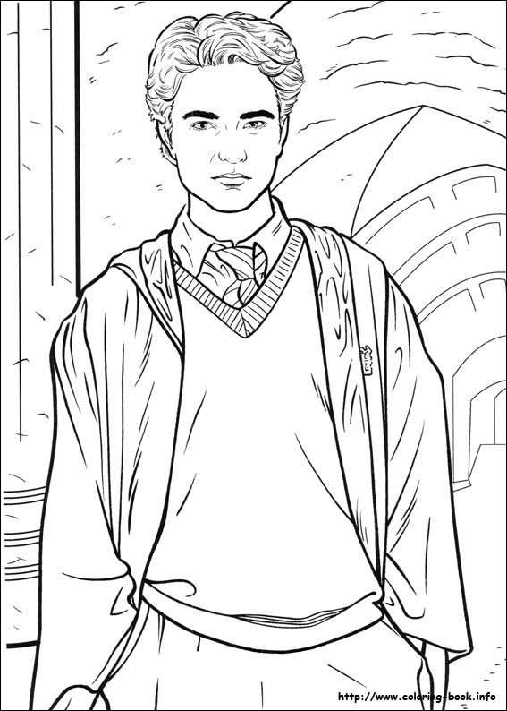Harry Potter Cedric Coloring Picture With Images Harry