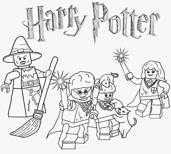 Lego Coloring Pages Harry Potter Coloriage Harry Potter