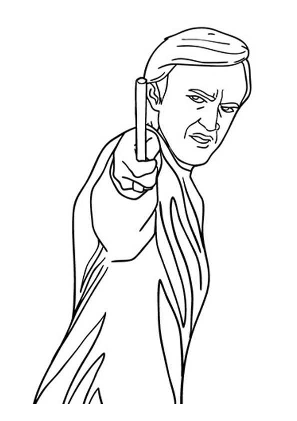 The Draco Malfoy Color With Images Harry Potter Coloring Pages