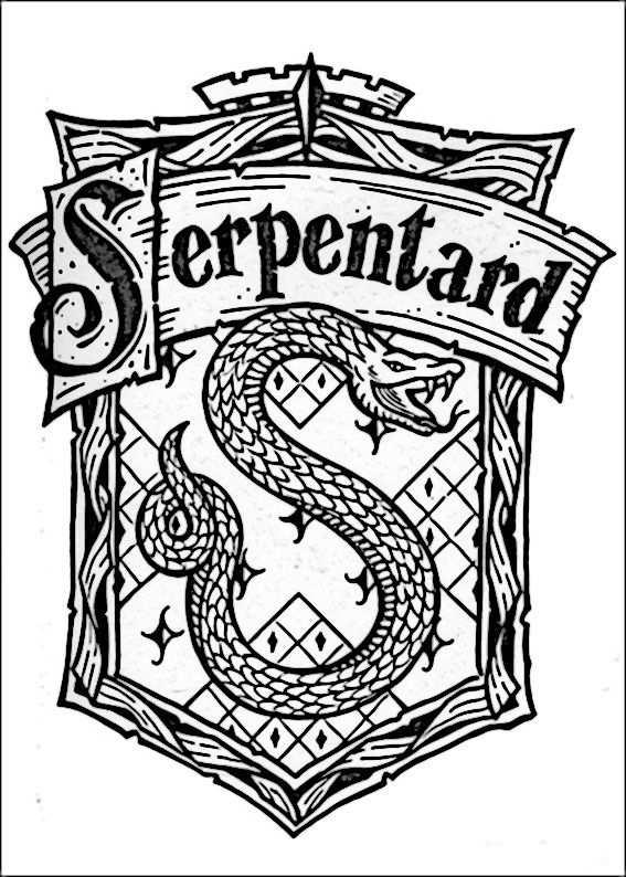 Kleurplaat Kleurplaten Harry Potter 61 Harry Potter Casas
