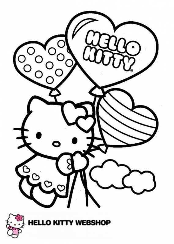 kleurplaat hartjes ballonnen