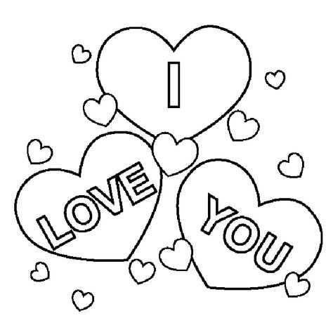 I Love You Coloring Pages Met Afbeeldingen Kleurplaten