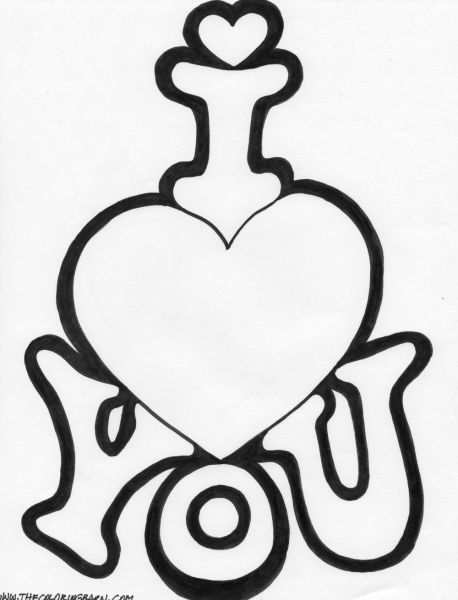 I Love You This Much Coloring Pages Kleurplaten Valentijnen Hart