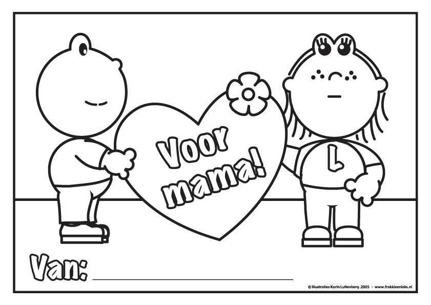 Kleurplaat Voor Mama Mama Moederdag Mama En Vaderdag