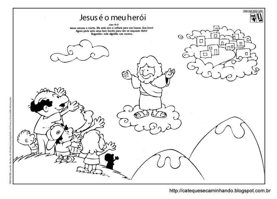 Kleurplaat Hemelvaart Ensino Religioso Moral Etica E Cidadania