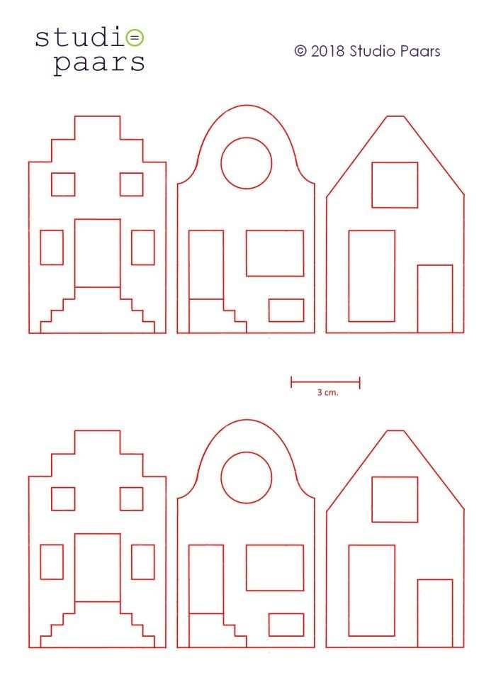 Gratis Vilt Patroon Voor Hollandse Huisjes Studio Paars