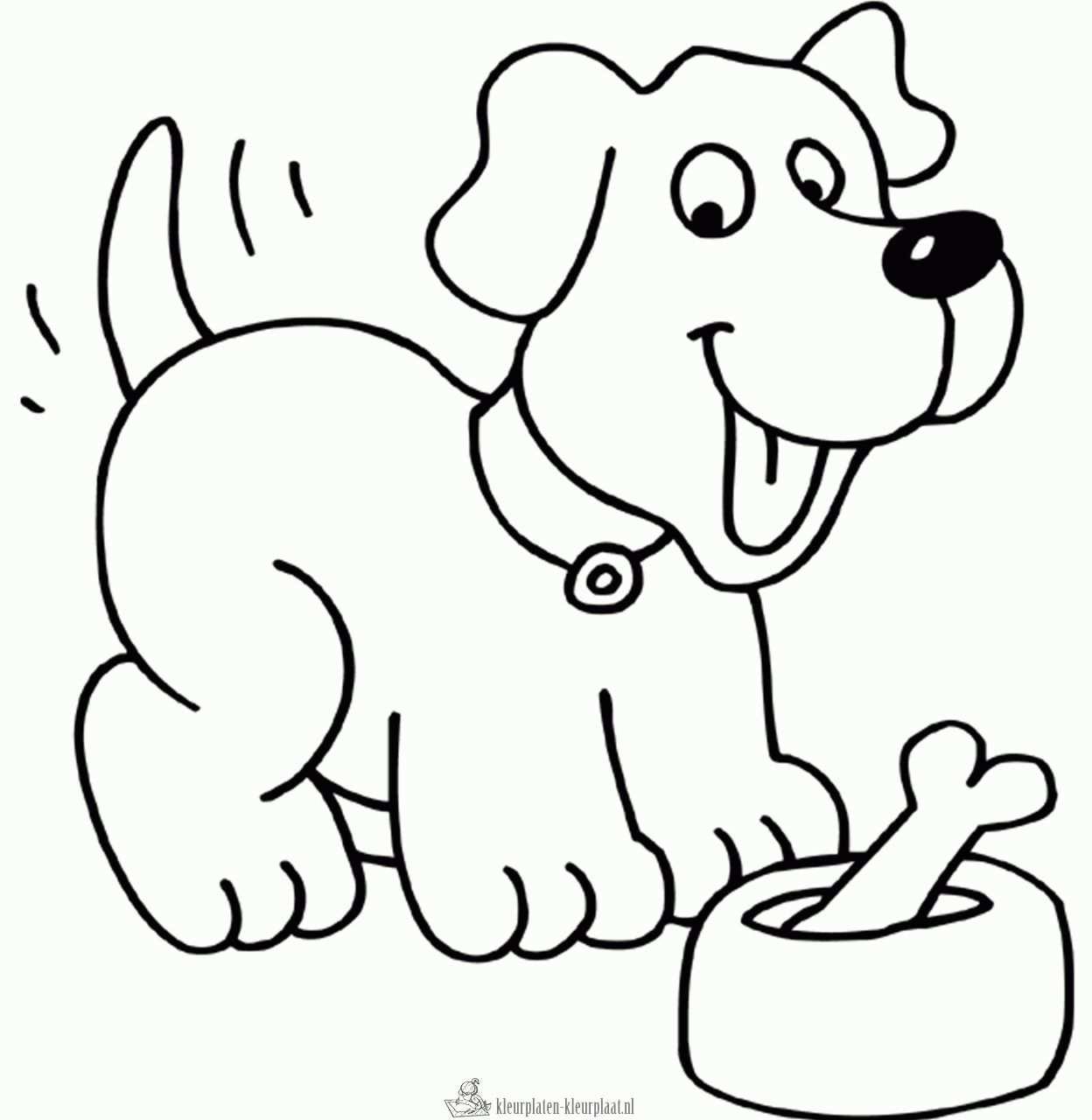 Kleurplaat Hond Kleurplaten Dieren Kleurplaten Disney Kleurplaten