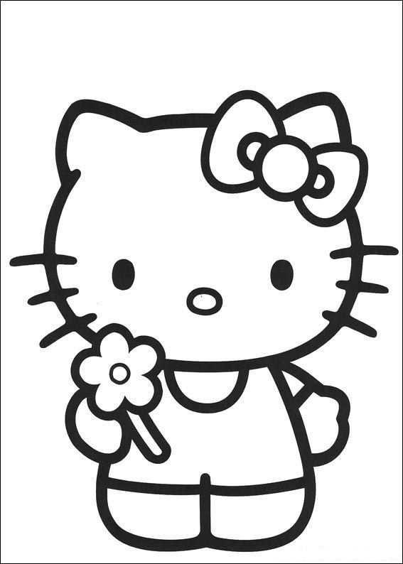 Coloring Page Hello Kitty Hello Kitty Met Afbeeldingen